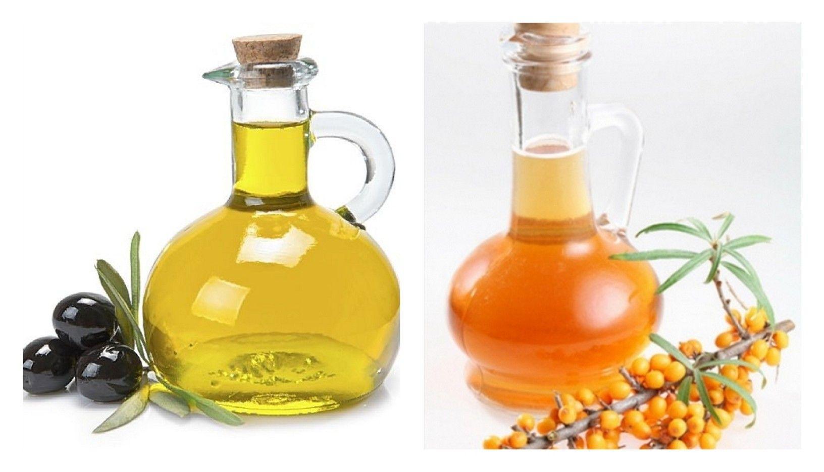 облепиховое и оливковое масло