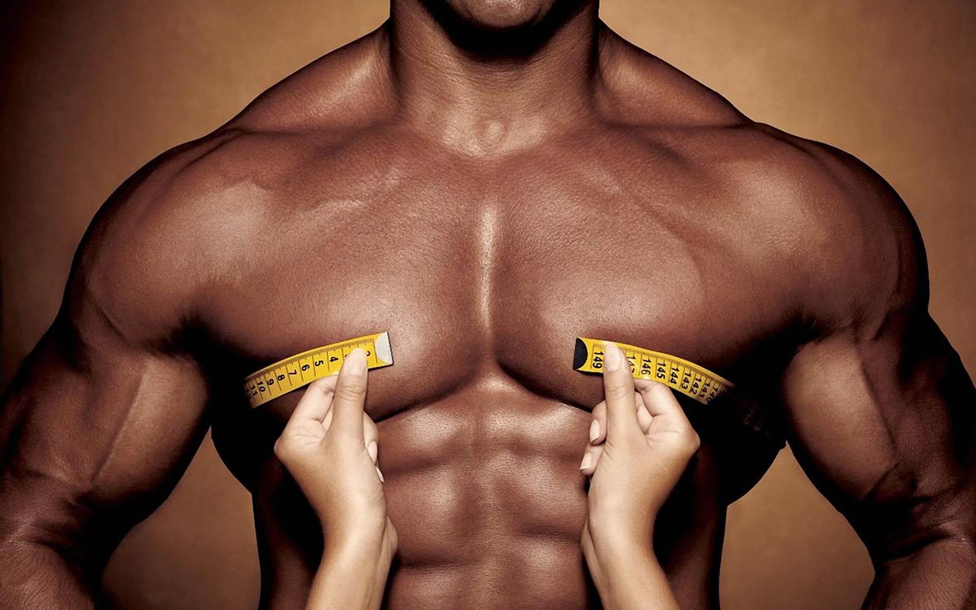 определение объема груди у мужчины