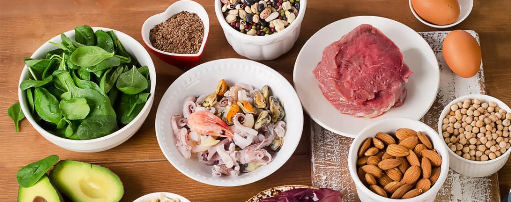 продукты богатые цинком мясо морепродукты миндаль