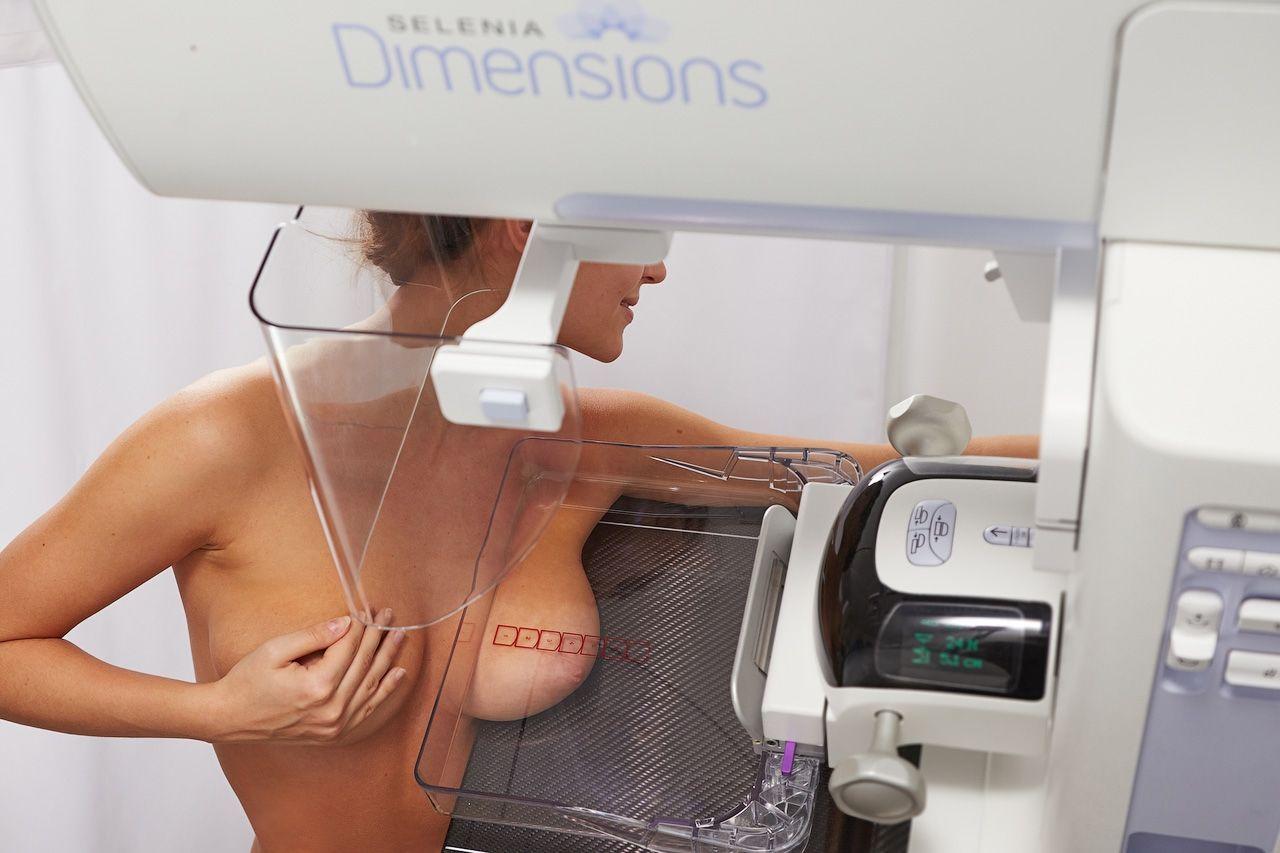 процесс проведения маммографии