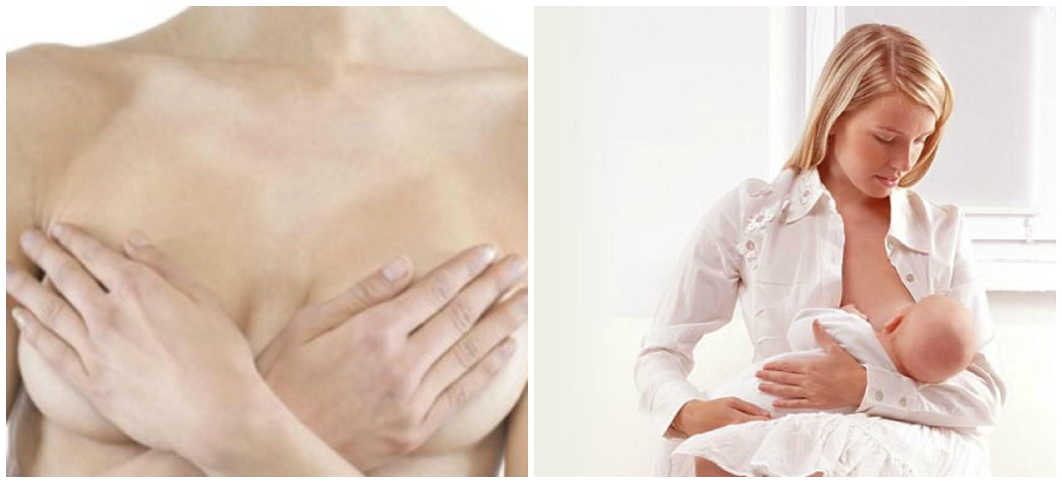 женщина скрестила на груди руки, кормление грудью малыша