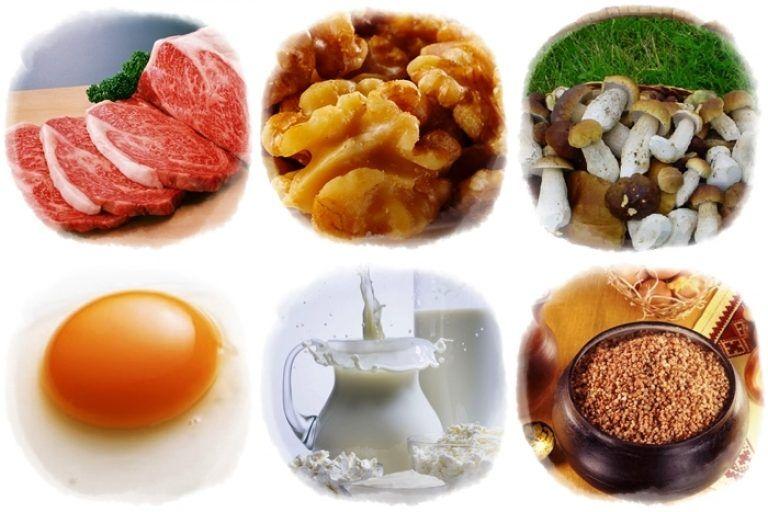 мясо орехи грибы молоко