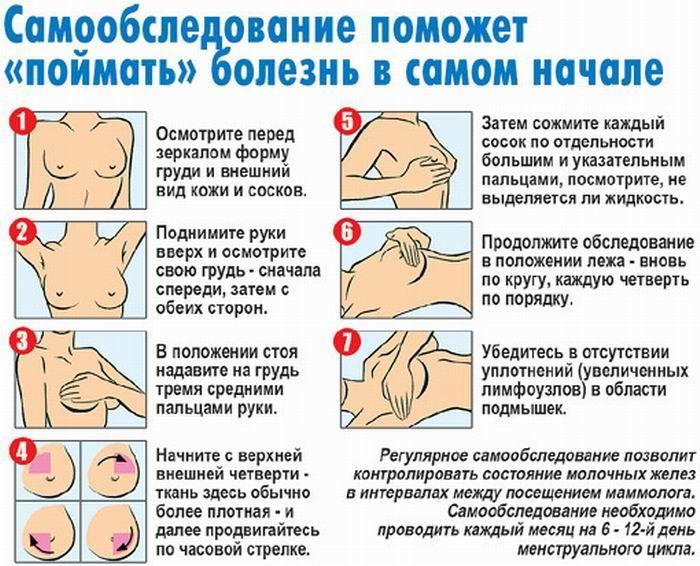 Техника обследования груди