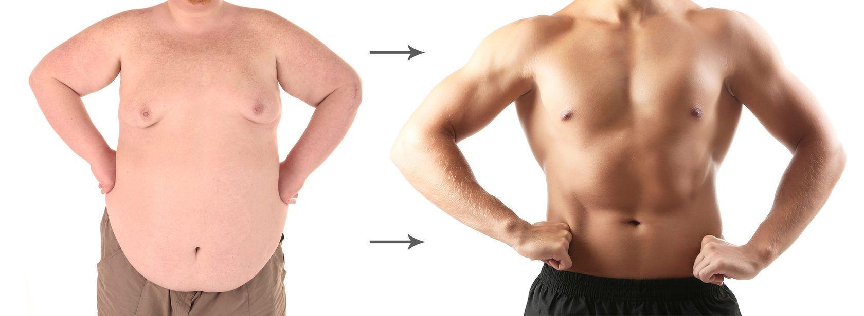 превращение мужчины из толстяка в спортивного