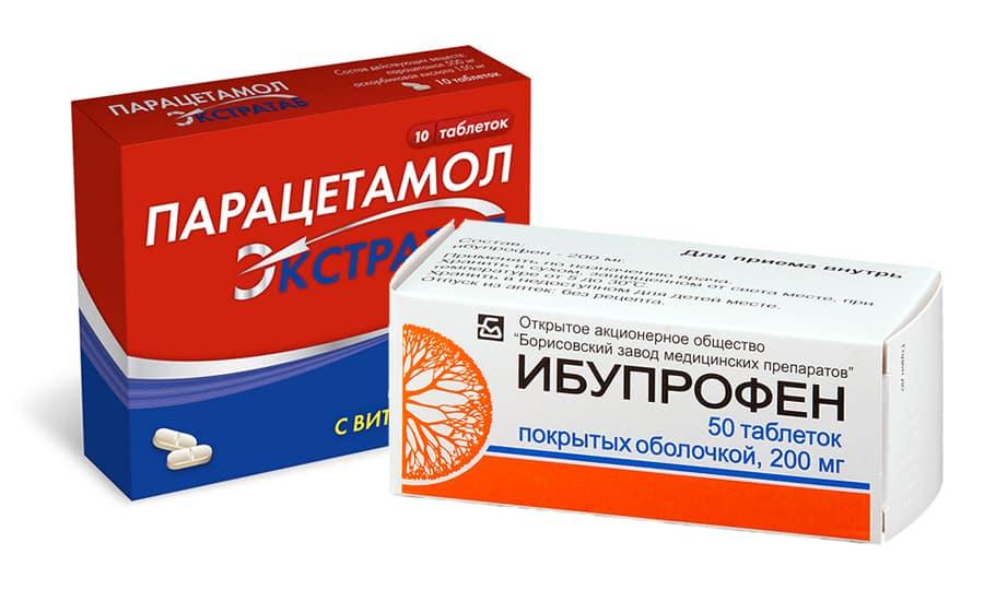 ибупрофен и парацетамол при болях в груди