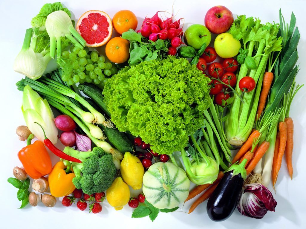 много овощей