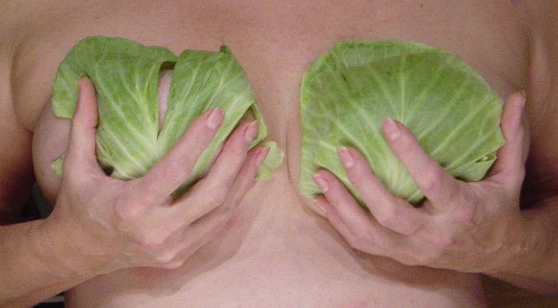капустные листы на груди